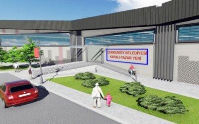 çerkezköy belediyesi kapalı pazar alanı